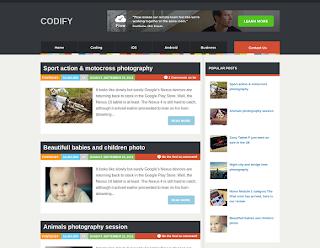 Codify Magazine Free Blogger Template
