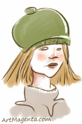 Using cap indoors is a gesture drawing by artist and illustrator Artmagenta drawn on an iphone