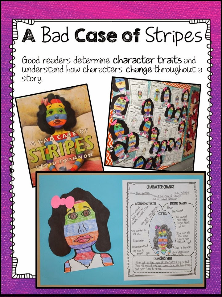 David Shannon Author Study Lessons and Activities to Review – A Bad Case of Stripes Worksheets