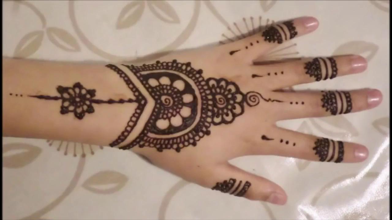 Cute Simple Modern Henna Design New
