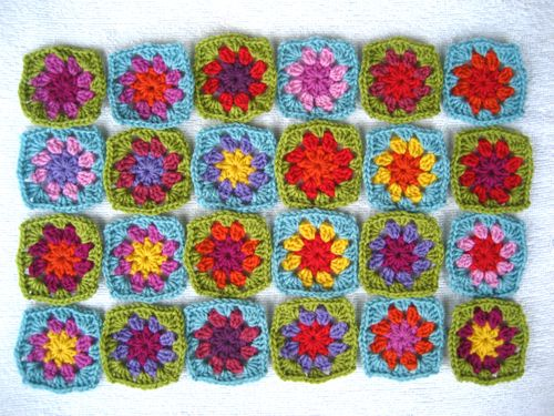 How To Crochet A Granny Square Blanket Pattern : KNITTING Hobbies Passion