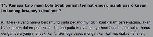Pertanyaan yang di jawab sama Bepe