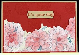Card with Coloured Designer Series Papers