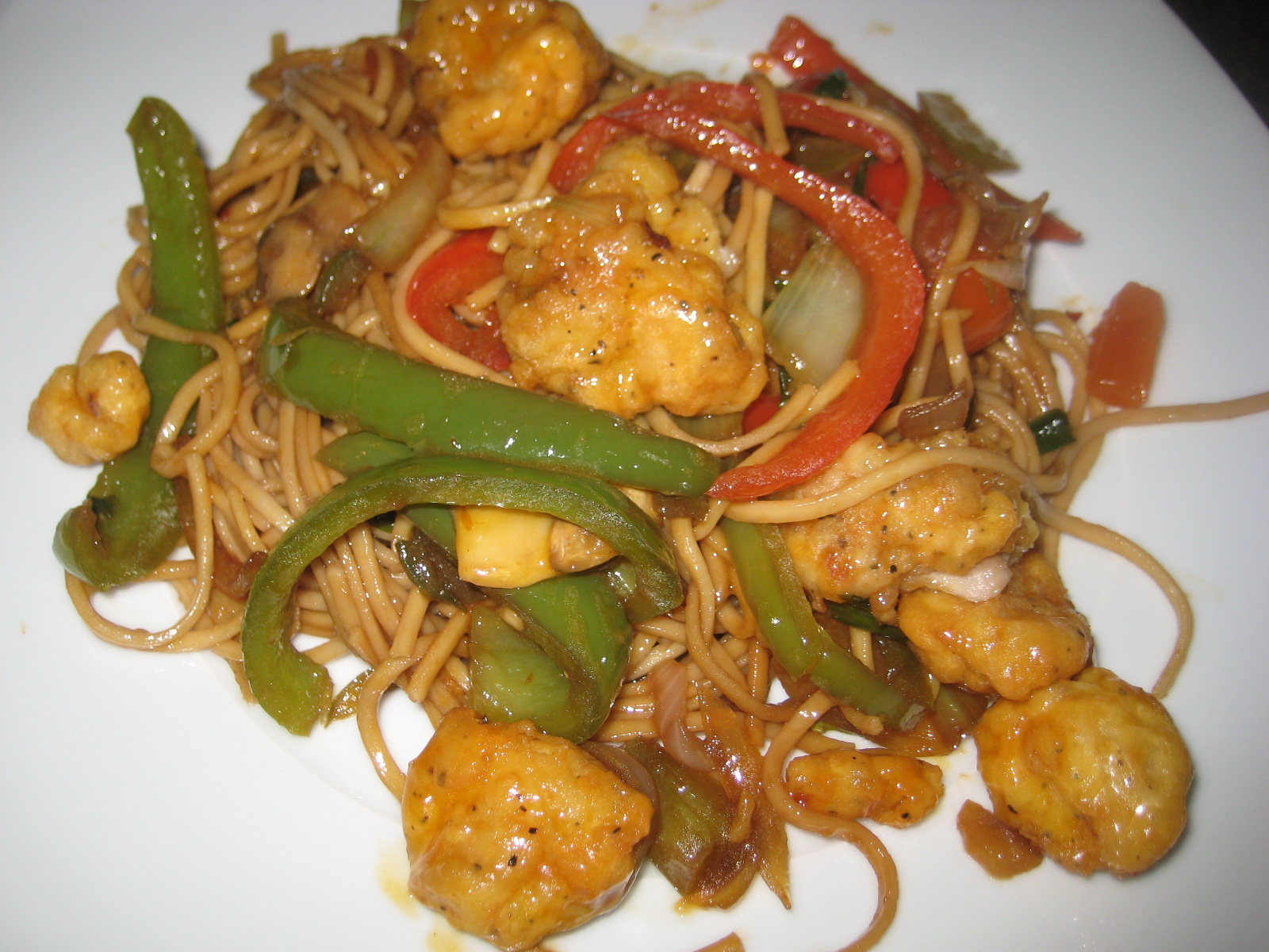 What's in your fridge?: Spicy pineapple chicken & noodle stir-fry