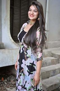 Actress Siya Gautham Picture Gallery in Long Dress at Pilavani Perantam Telugu Movie Opening  15.jpg