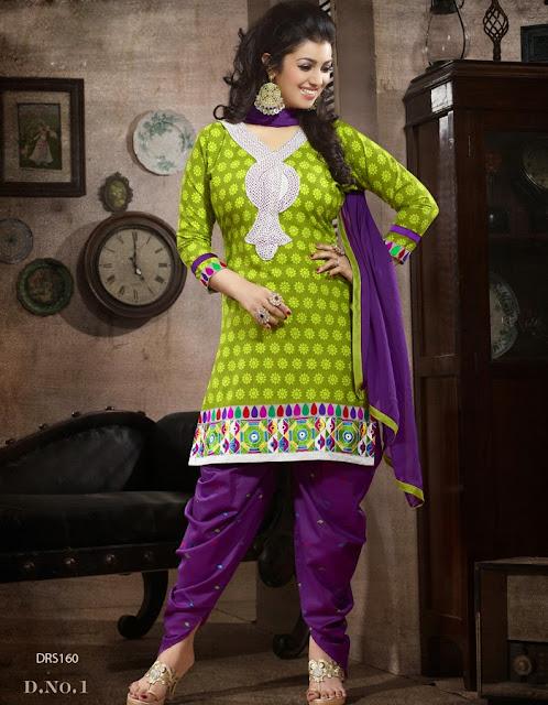 New Designer Fancy Cotton Patiala Suit
