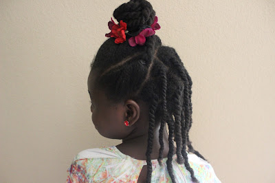 Twisted Top Bun and Layered Twists | Natural Hair Hairstyle for Kids Teen Tween