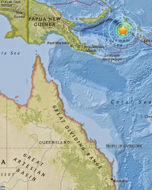 Magnitude 7.1 Earthquake of Panguna, Papua New Guinea 2015-05-07