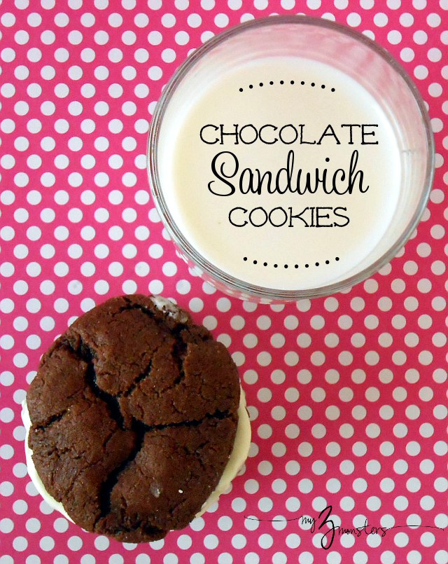 How to make chocolate sandwich cookies at my3monsters.com