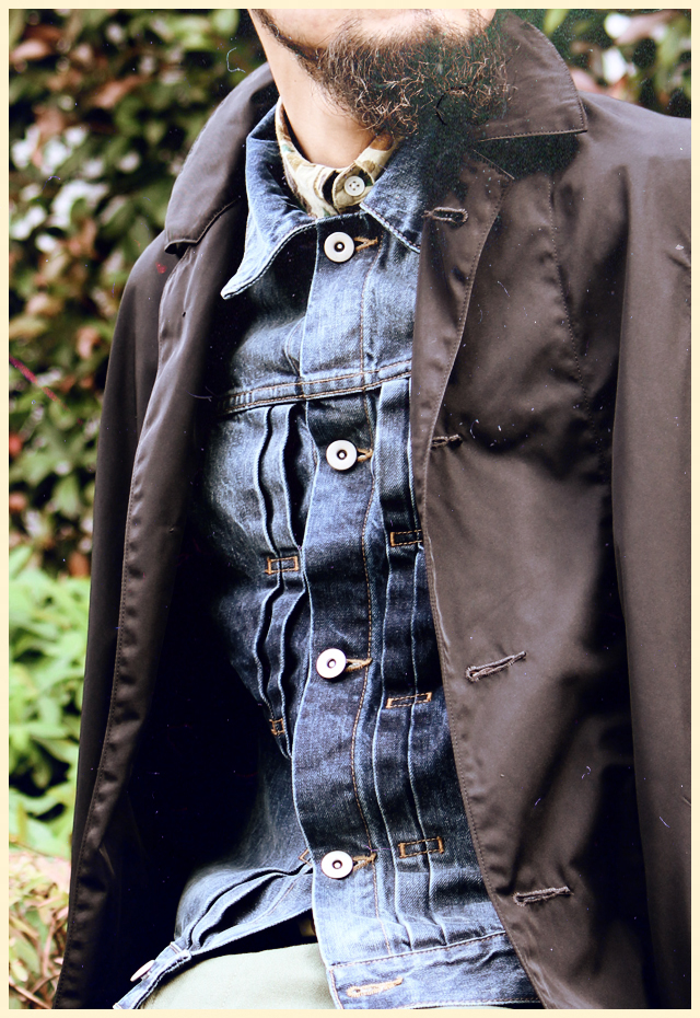 "Nisus Hotel ""Leather Pocket Selvedge Denim Jacket"" ナイサスホテル"