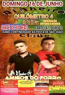 DOMINGO (16) TEM AMIGOS DO FORRÓ NO PINHEIRO CLUBE, NO KM 04
