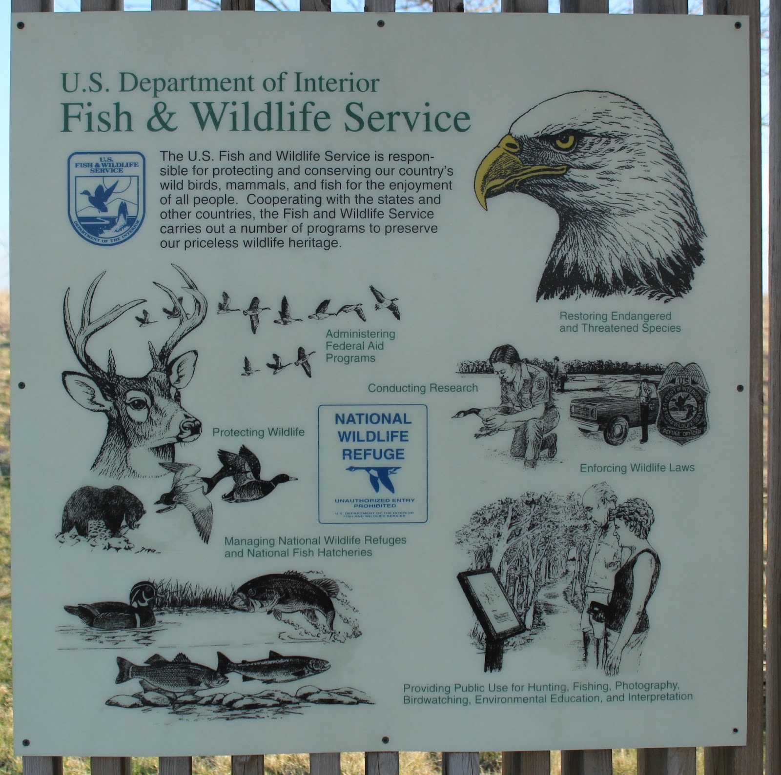 Wisconsin historical markers u s department of interior for Us fish and wildlife