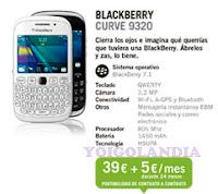 BlackBerry Curve 9320 por 39€ más pago a plazos en febrero 2013