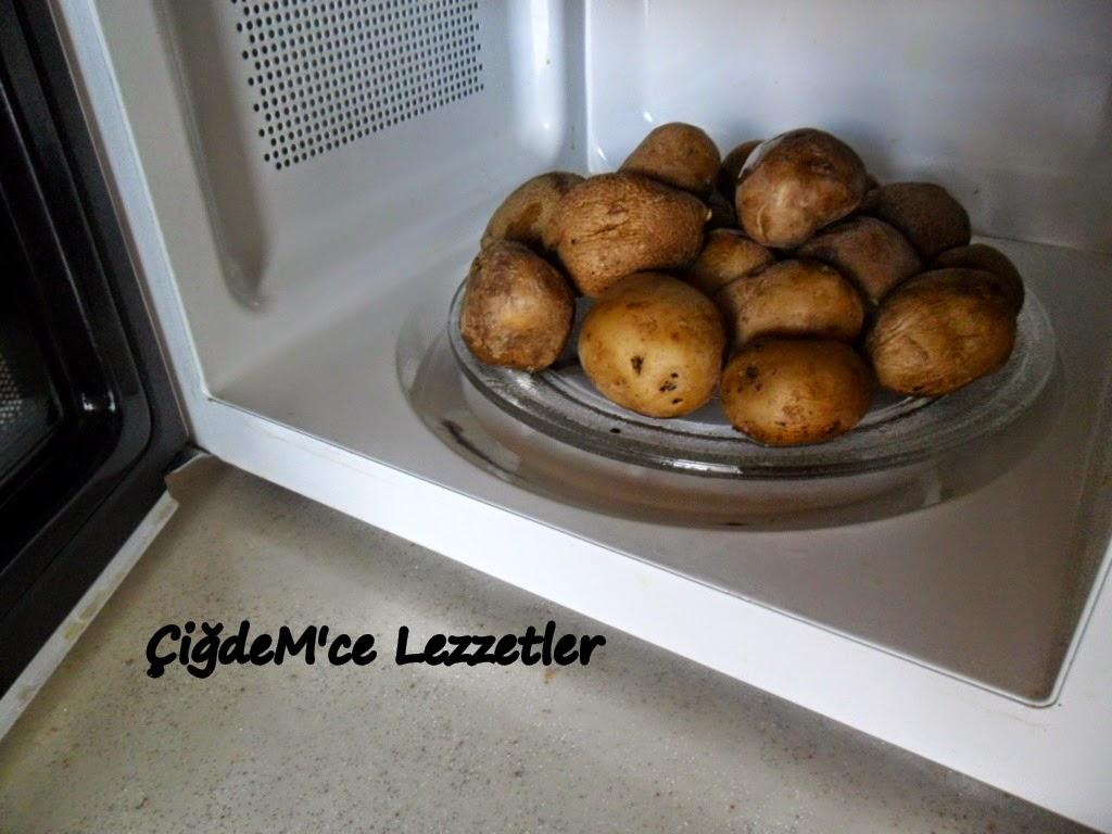 Mikrodalga Fırında Patates