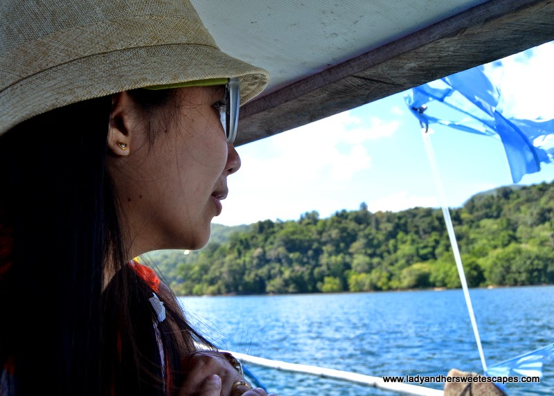 Lady on the way to Sabang Beach