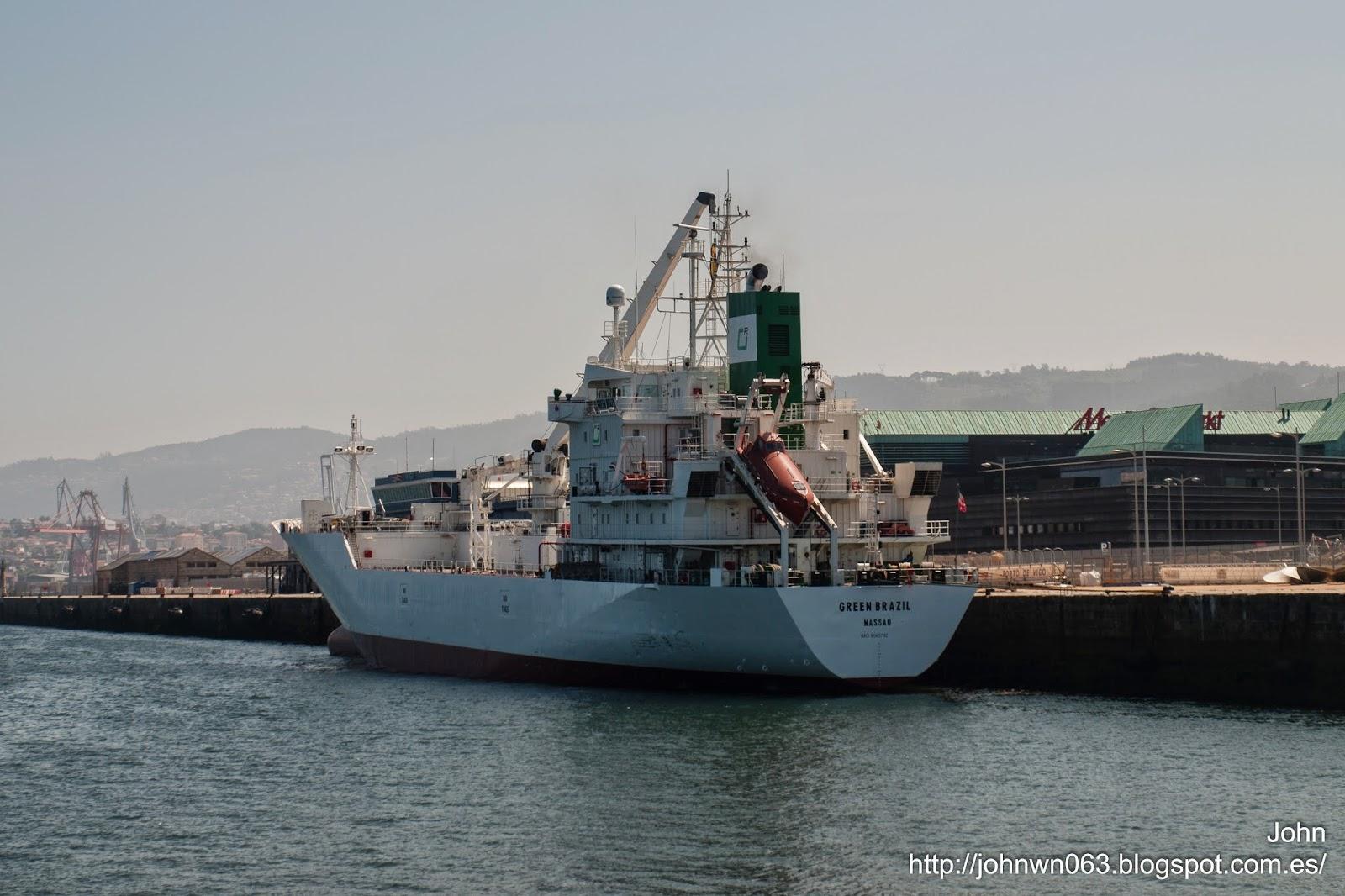fotos de barcos, imagenes de barcos, green brazil, green management, reefer, vigo