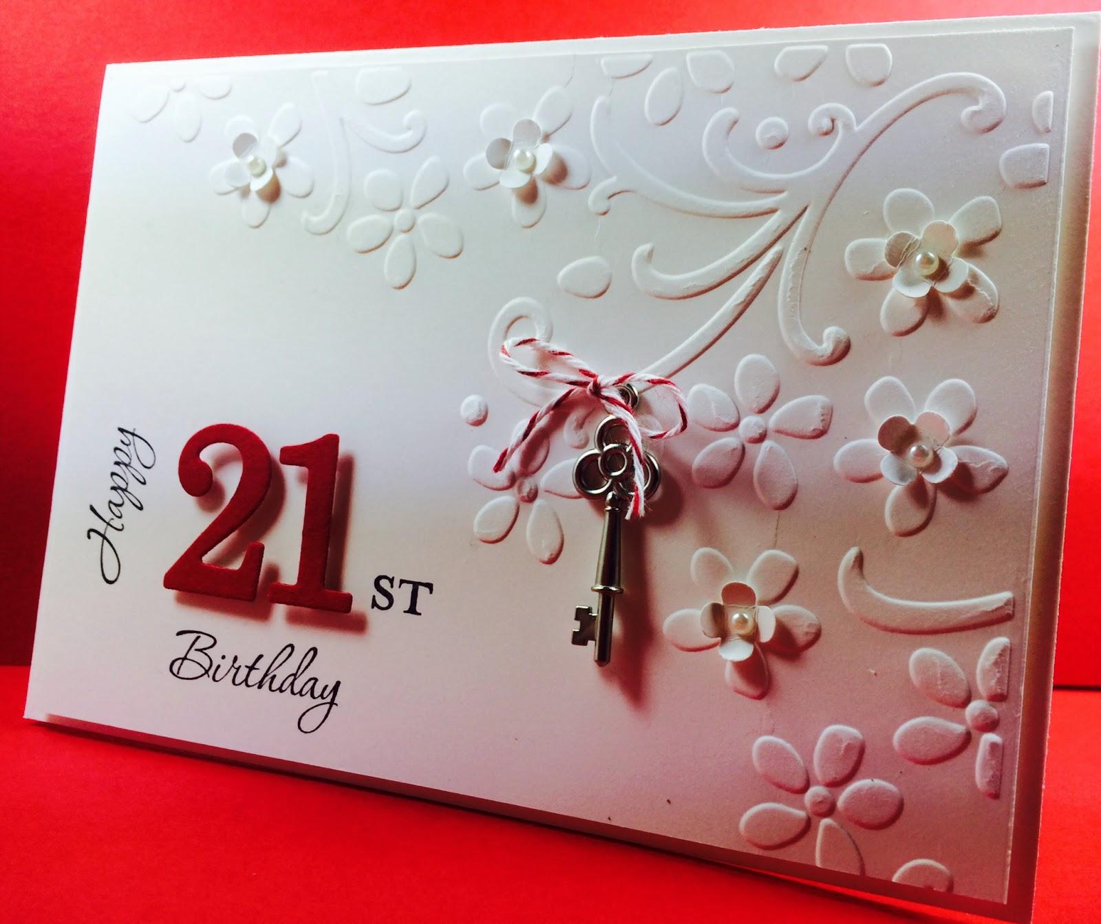 Deb s Stampin Style Happy 21st Birthday Nicole