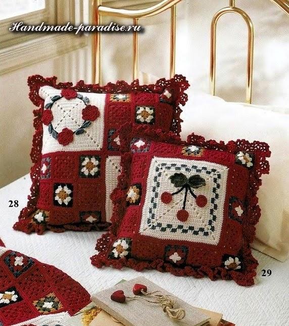 Плед, подушки и сумочки крючком
