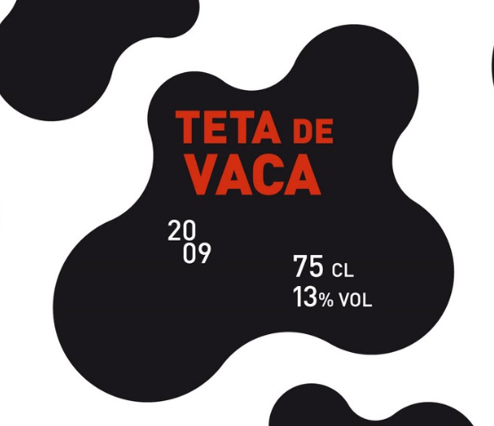 ETIQUETA VINO TETA DE VACA