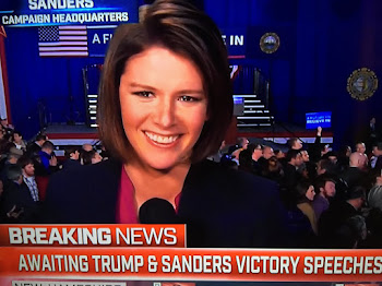 Kasie Hunt of NBC All Smiles at Sanders Victory Eally