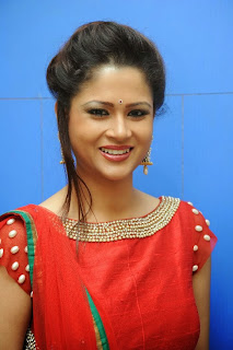 Shilpa Chakravarthy in Red Ghaghra Choli at Missed Call Audio Launch