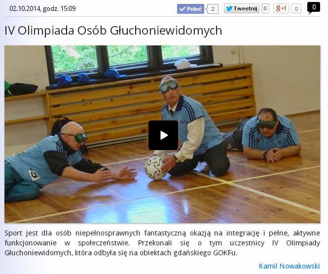 Piłka dźwiękowa na portalu Pomorska.TV