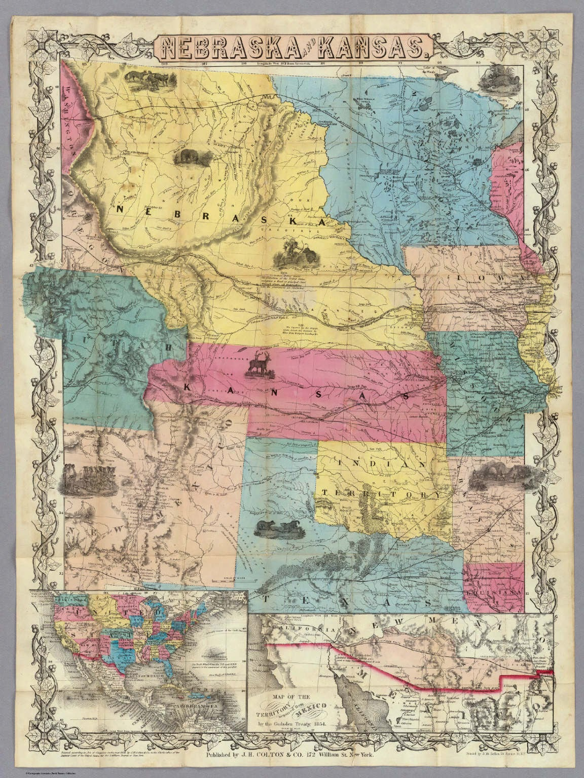 Antique Prints Blog The Origins Of The Nebraska Territory