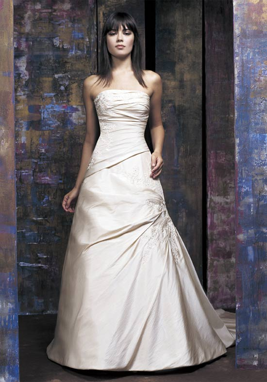 Wedding Gowns With Designs : Simple white wedding dress picture beautiful collections