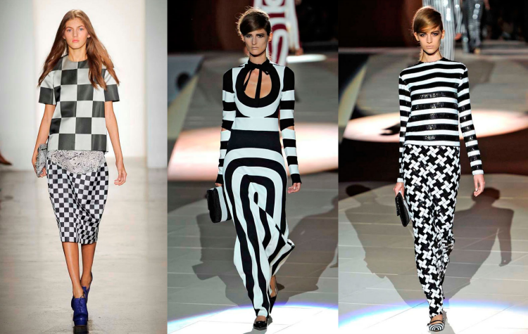 high fashion black and white patterns #shop