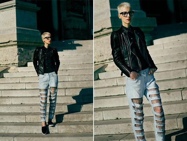 H&M 2014 Spring Fringed Jeans