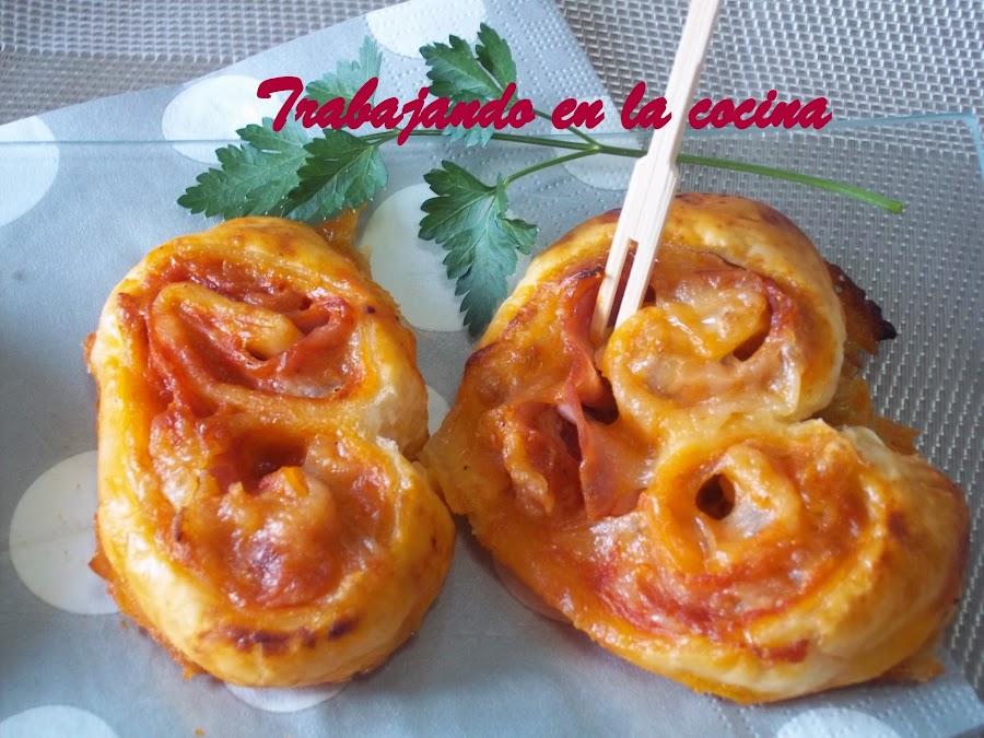 Cómo hacer palmeritas saladas con el sabor de una pizza. ¡Sorprendente!