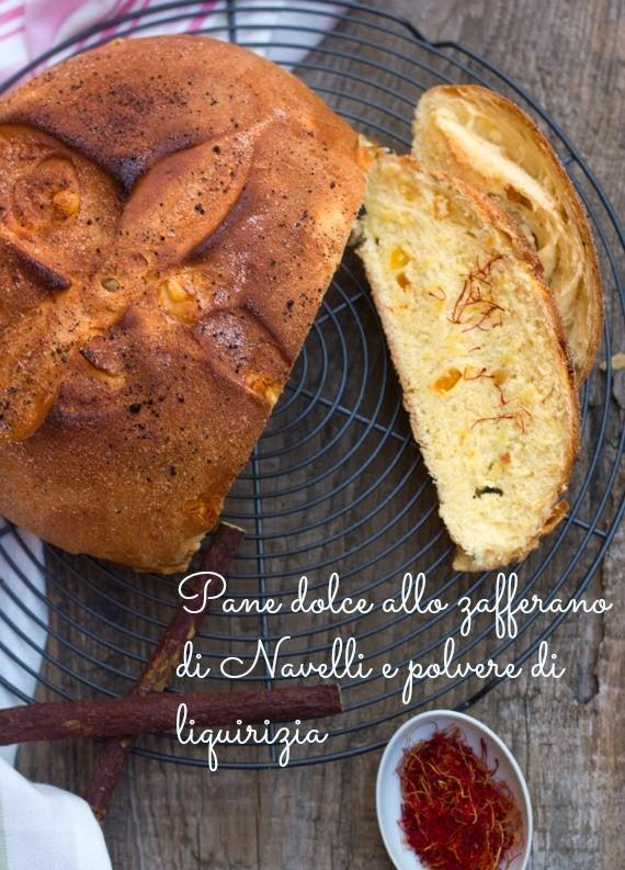 Pane dolce allo zafferano di Navelli e polvere di liquirizia