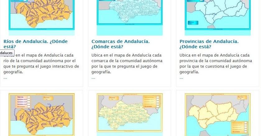 TIC TIRIRITIC CAON Mapas Interactivos de Andaluca de Enrique