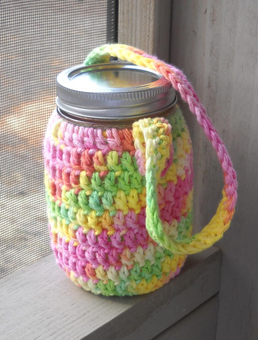 Confessions of a Sewciopath: water jar cozy