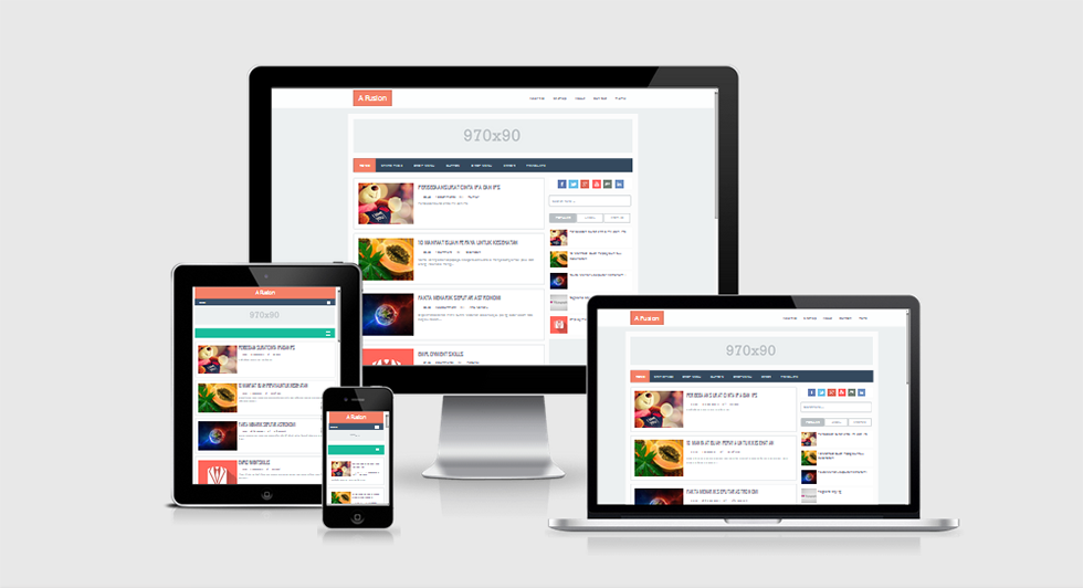 Preview A Fusion Responsive Blogger Template
