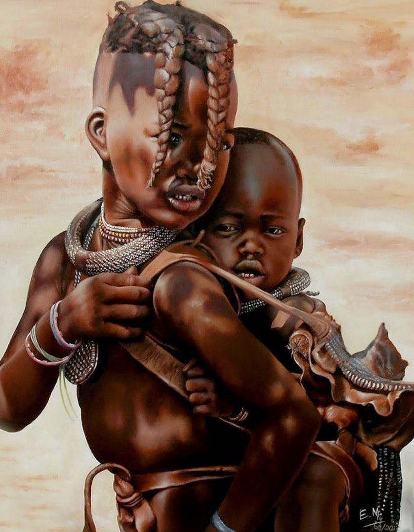 retratos-realistas-de-ninos-del-africa