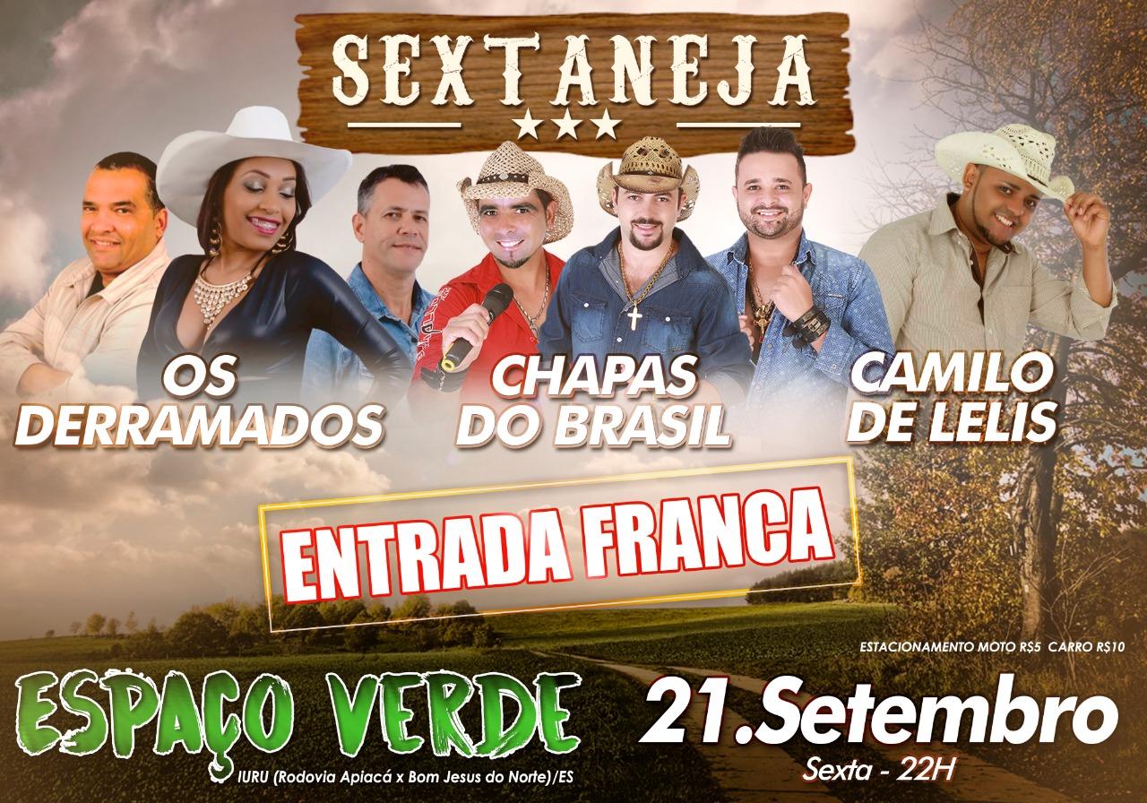 SEXTANEJA COM ENTRADA FRANCA NO ESPAÇO VERDE
