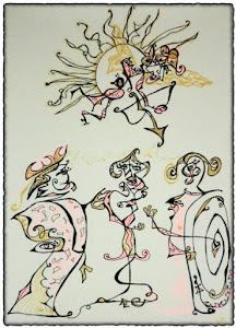Ilustración regalo de Sara de Microrrelatos Ilustrados para Una de boda