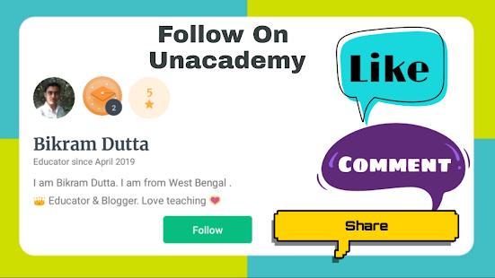 সরকারি চাকরির সেরা প্রস্তুতির জন্য Unacademy app ডাউনলোড করুন।