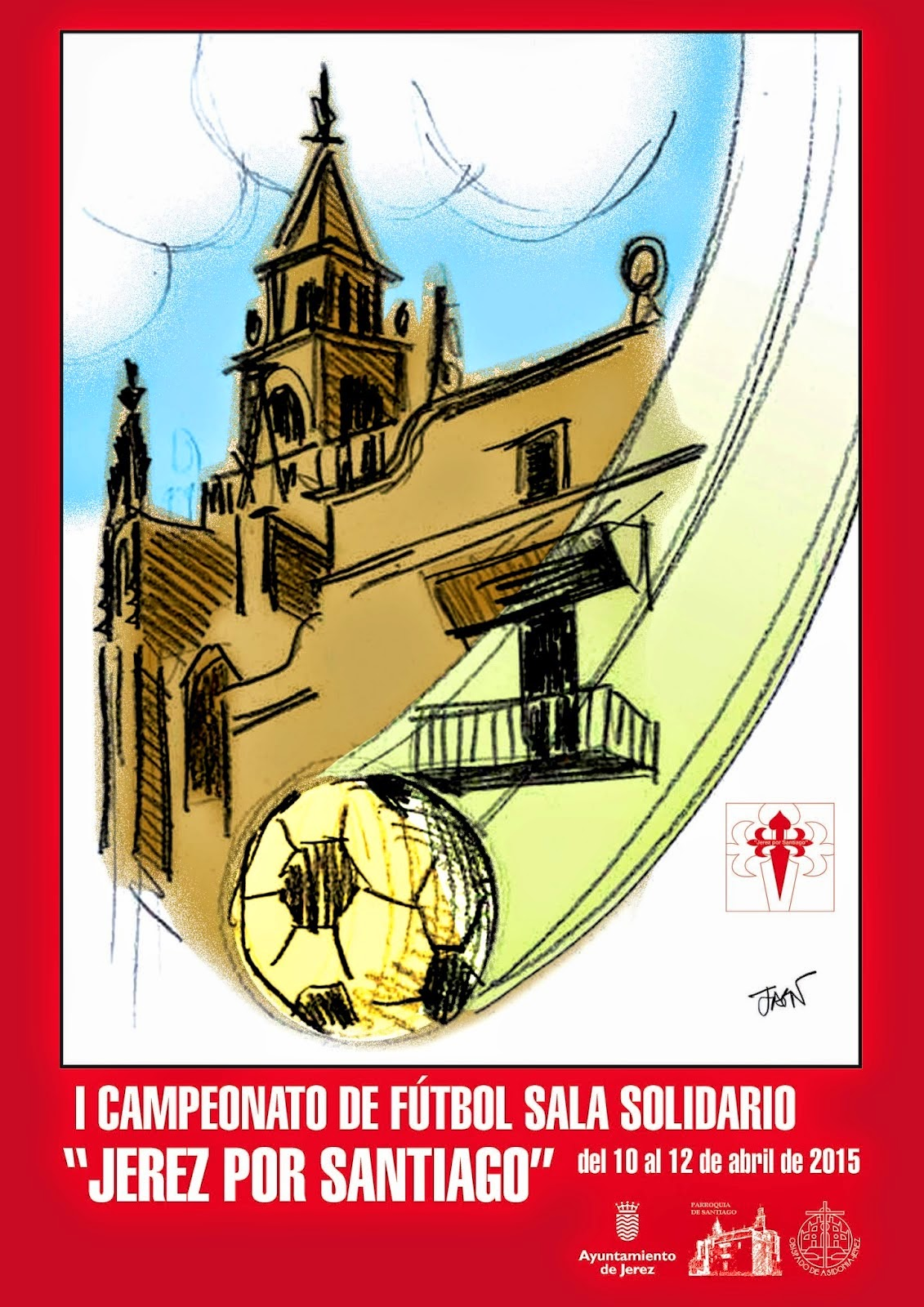 """I campeonato de fútbol sala solidario """"Jerez por Santiago"""""""