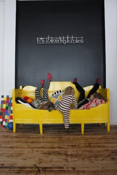 {Kids} 5 cutest kids corners in yellow and grey