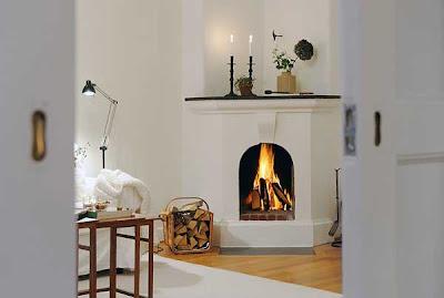 chimenea apartamento sueco