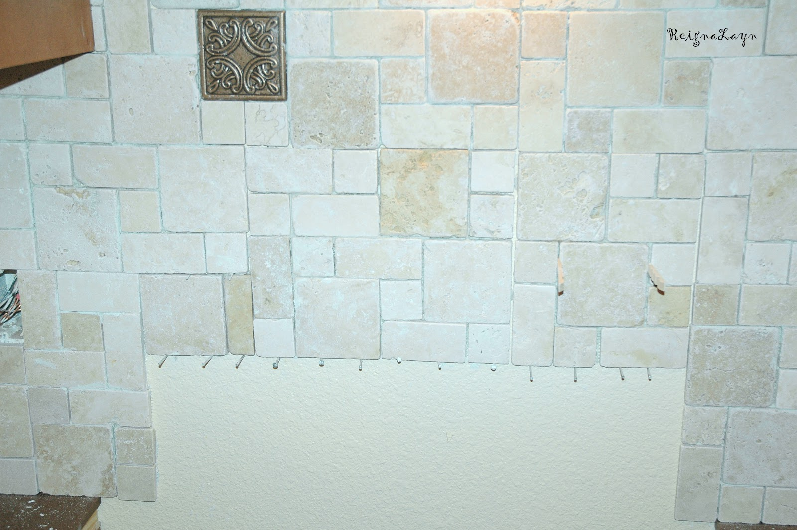 Reigna Layn: Tiling the Backsplash