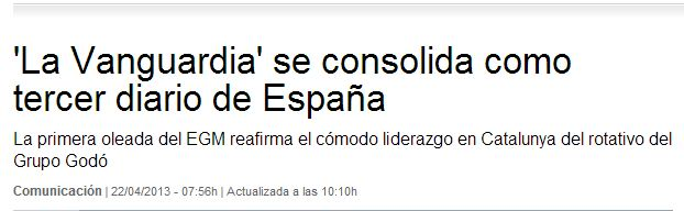 La Vanguardia omite los datos que le perjudican