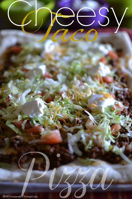 Cheesy Taco Pizza #Recipe
