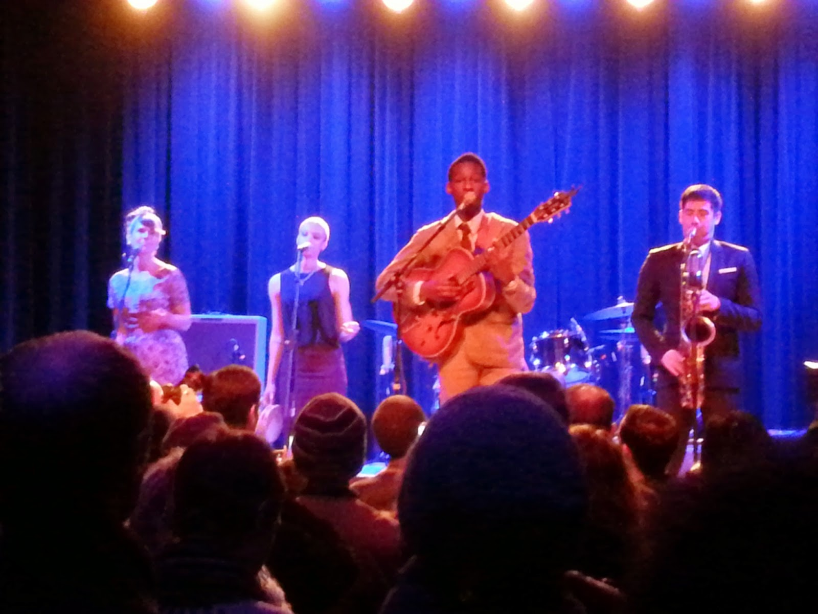 Leon Bridges and band at Warsaw.