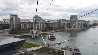 The View from The Emirates Air Line over the river Thames London