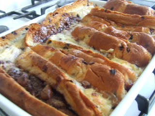 Chocolate Chip Bread & Butter Pudding