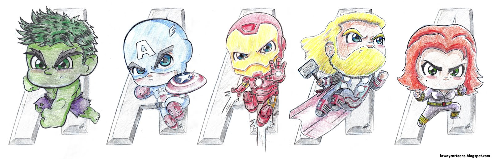 Avengers Cartoon Drawings Avengers Assemble