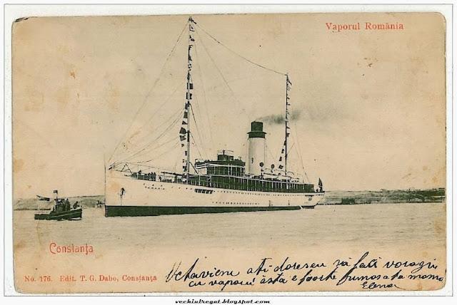 Vaporul Romania in Portul Constanta